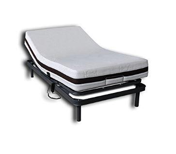 Cama ajustable o articulada con colchón inteligente